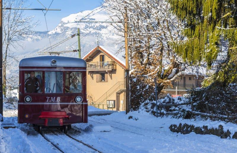 Tramway du Mont Blanc fotos de stock