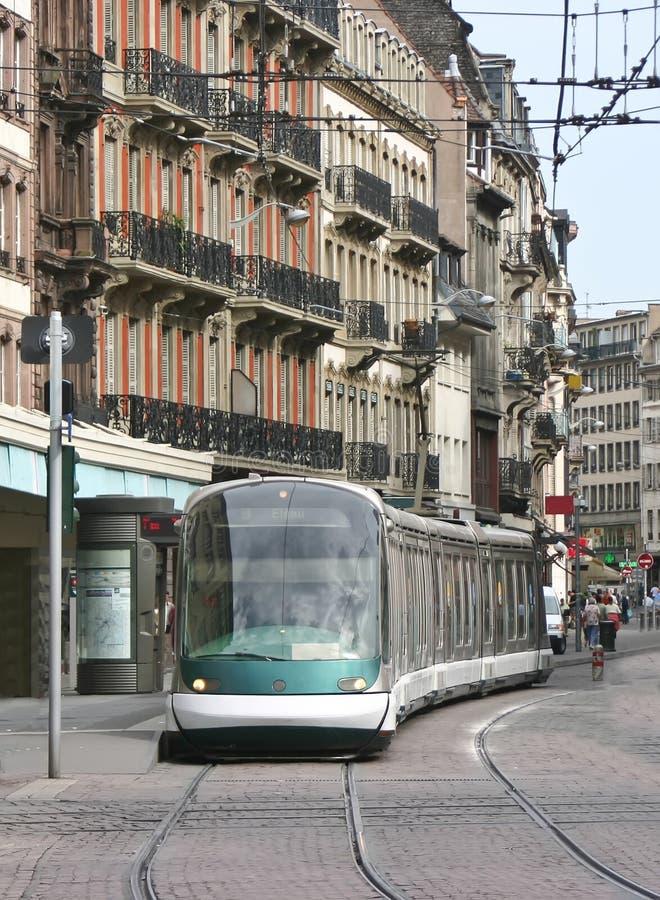 Tramway em Strasbourg, France imagem de stock