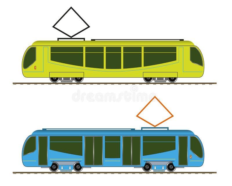 Download Tramway stock vector. Illustration of railway, tram, passenger - 39506431