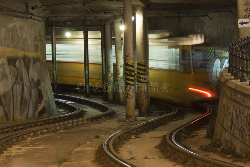 Tramway In The Tunnel Stock Photography