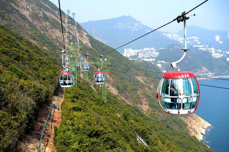 Tramways dans le parc à thème image stock