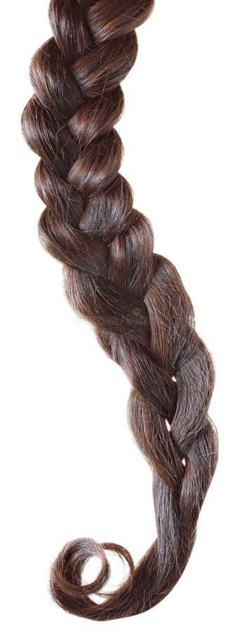 Trança do cabelo das mulheres fotografia de stock royalty free
