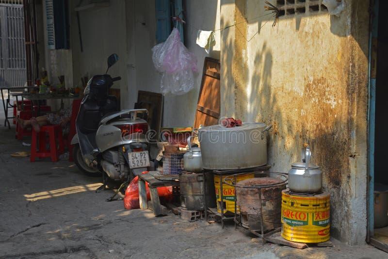 Tran Hung Dao Alleys photo libre de droits
