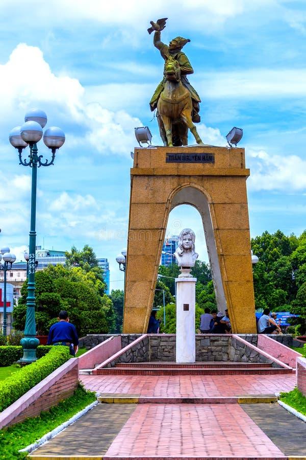 Tran Nguyen Han-monument royalty-vrije stock afbeeldingen