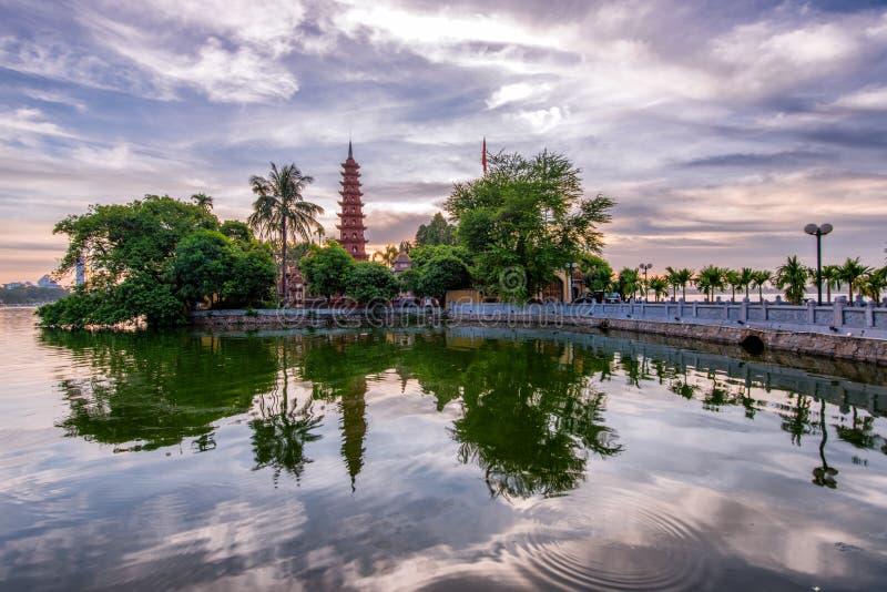 Tran Quoc Pagoda fotografie stock libere da diritti
