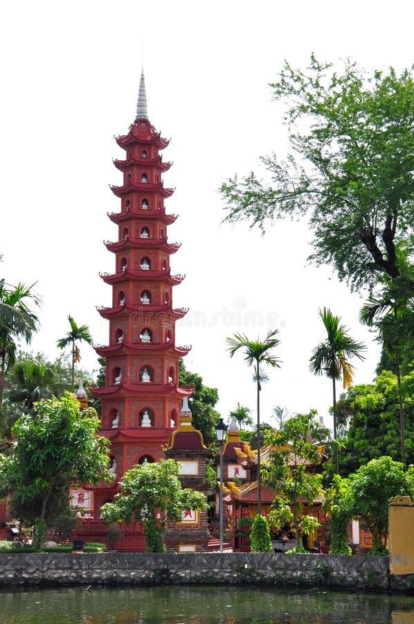 Tran Quoc Pagoda a Hanoi immagine stock libera da diritti
