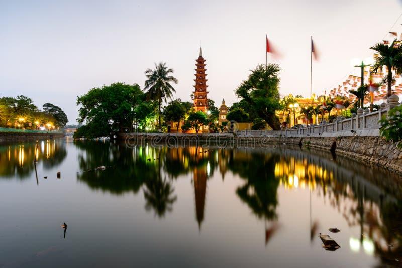 Tran Quoc pagoda stock photography