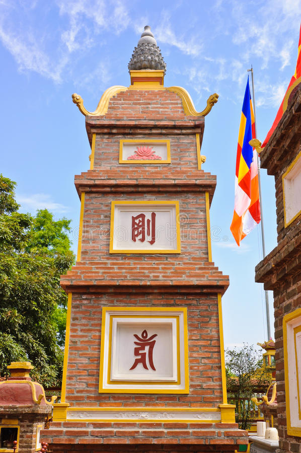 Tran Quoc temple. Is Buddhist temple in Hanoi, Vietnam royalty free stock photo