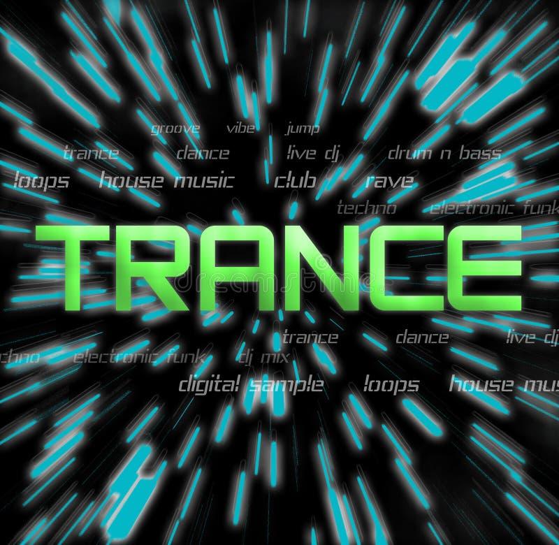 Trance Collage2 royalty-vrije illustratie