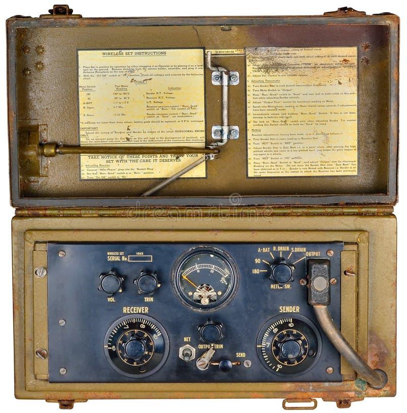 Tranceiver della radio del manpack Ww2 immagini stock libere da diritti