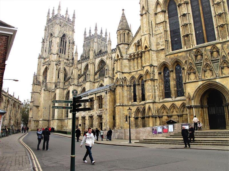 Trancept del sur, iglesia de monasterio de York, York, Yorkshire, Reino Unido fotografía de archivo
