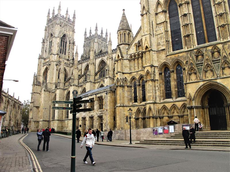 Trancept du sud, York Minster, York, Yorkshire, R-U photographie stock