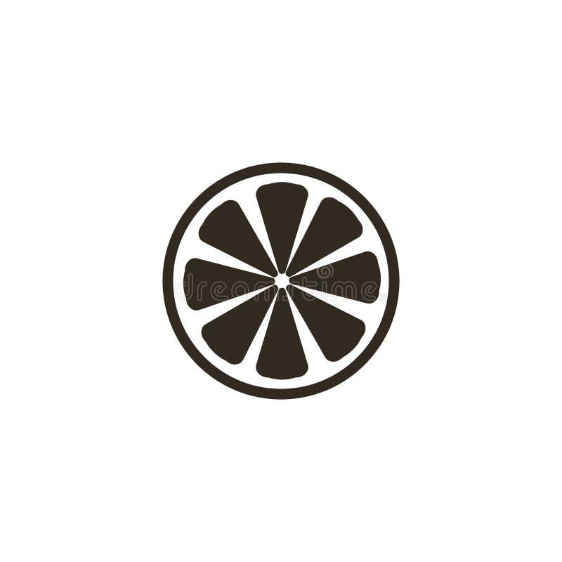 Tranche d'illustration d'icône de citron sur le fond blanc illustration libre de droits