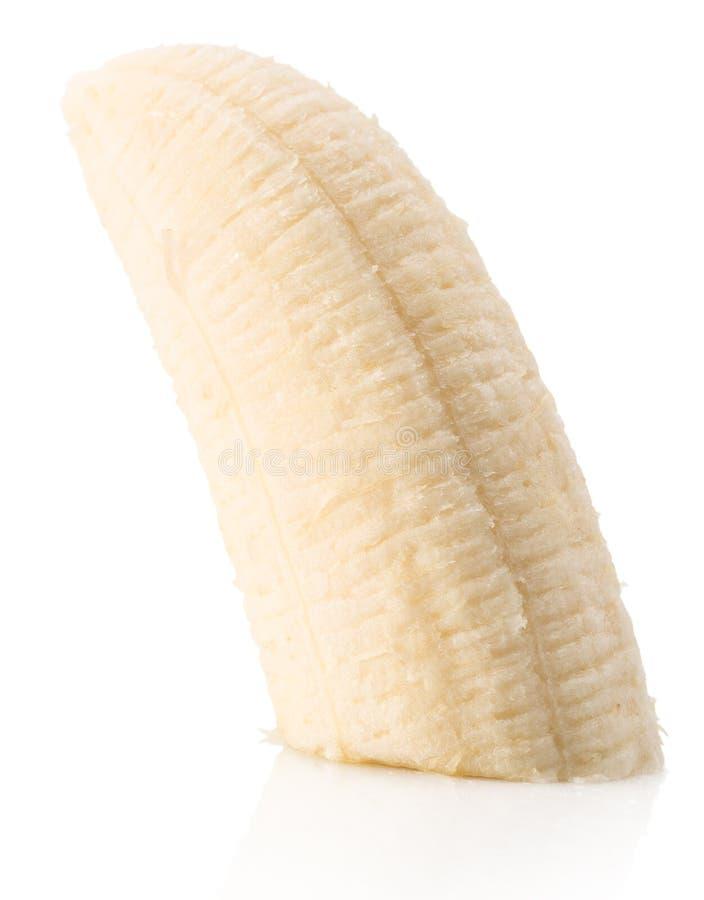 Tranche de banane d'isolement sur le fond blanc image libre de droits