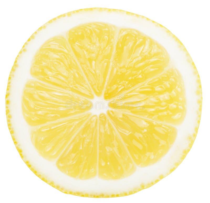 Tranche de citron d'isolement sur le fond blanc images stock