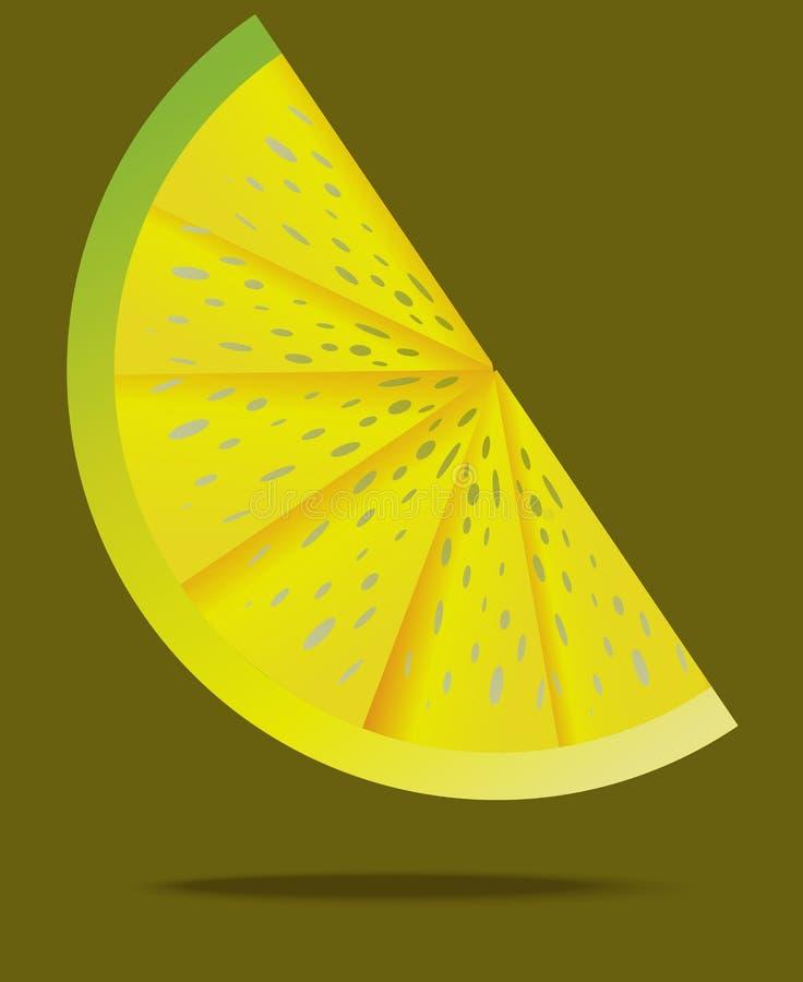 Tranche de citron dans le ciel illustration libre de droits