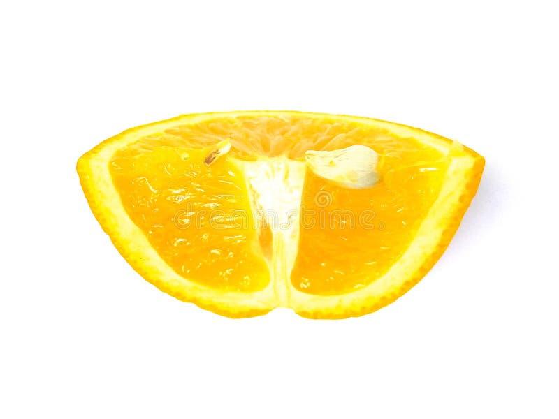 Tranche de fruit d'orange douce images libres de droits