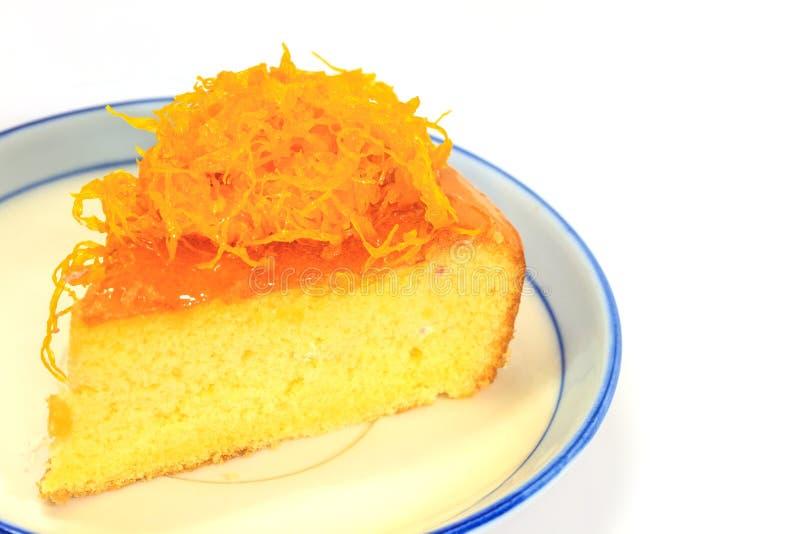 Tranche de gâteau mousseline de Victoria images stock