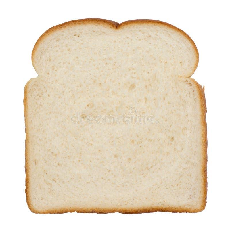 Tranche de pain blanc image libre de droits