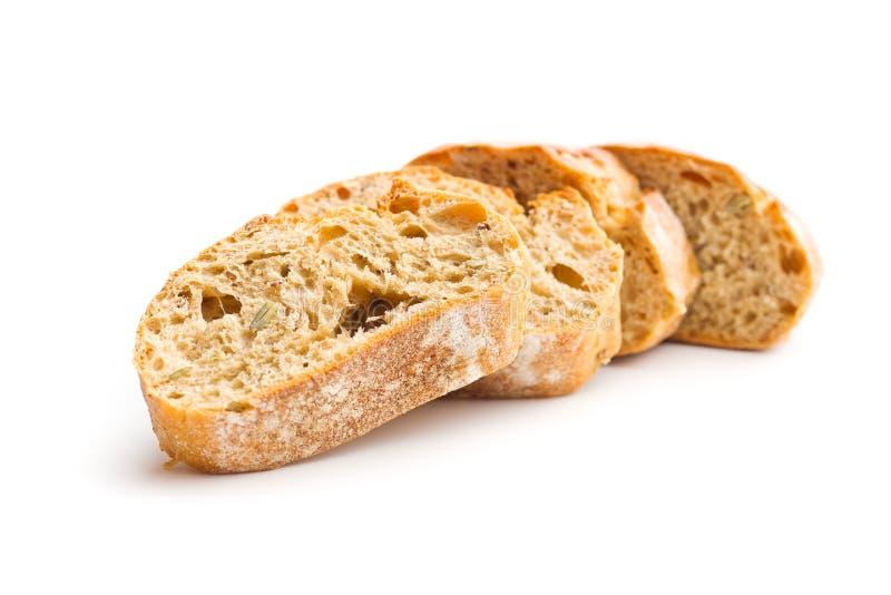 Tranche de pain de ciabatta photo libre de droits