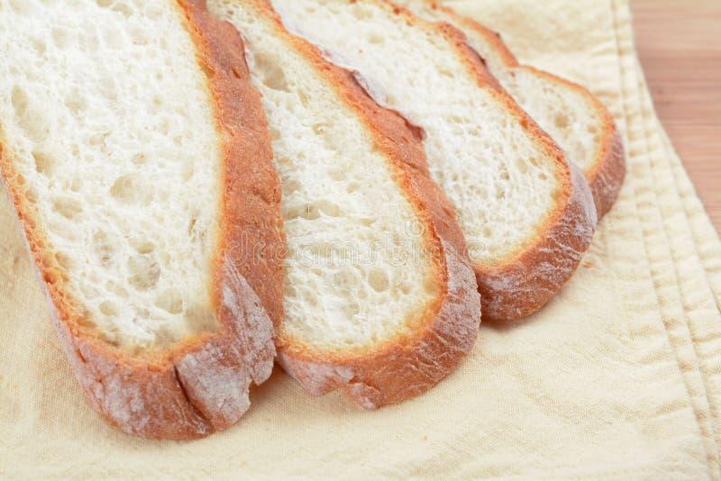 Tranche de pain de ciabatta photos libres de droits