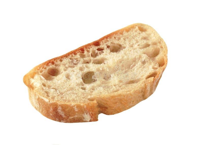 Tranche de pain de ciabatta image libre de droits