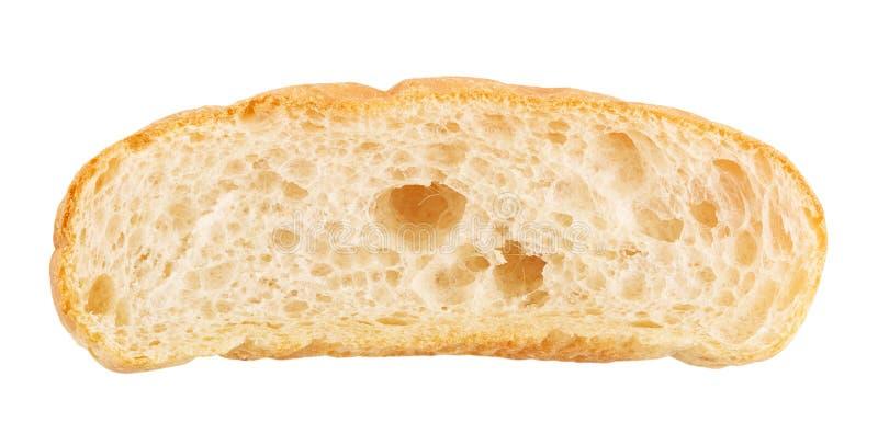 Tranche de pain de ciabatta photographie stock libre de droits