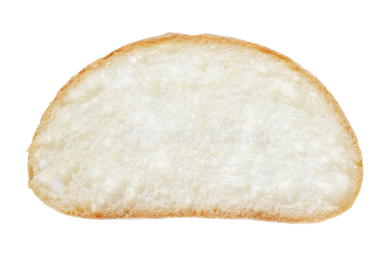 Tranche de pain italien frais de ciabatta photographie stock