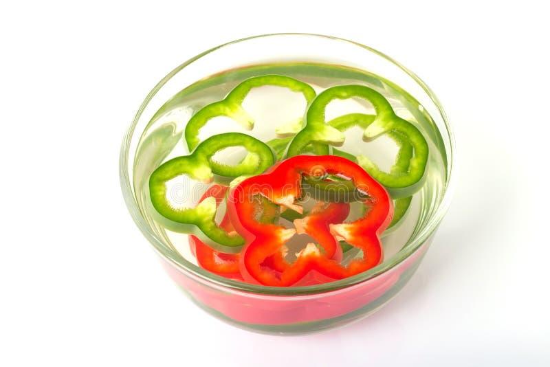 tranche de paprikas colorés images libres de droits