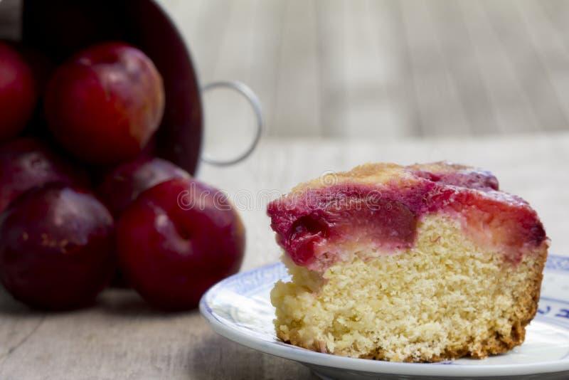 Tranche de Plum Cake - horizontale photo libre de droits