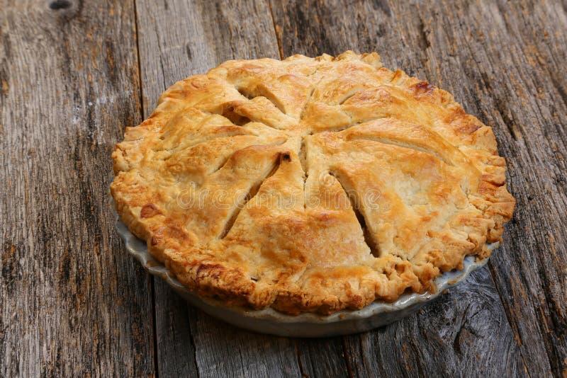 Tranche de tarte aux pommes image libre de droits