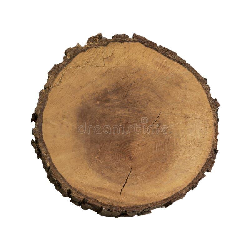 Tranche en bois d'isolement photos libres de droits
