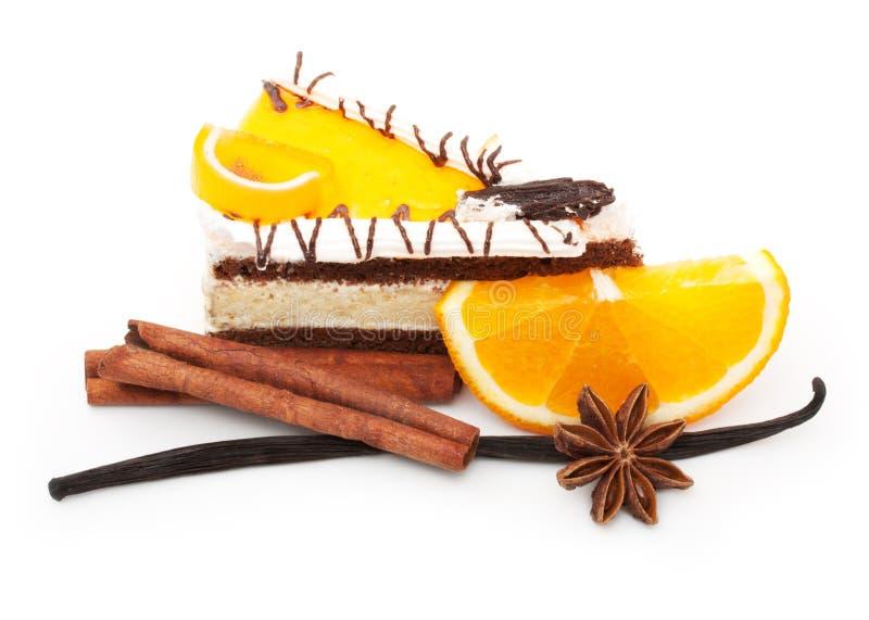 Tranche et épices oranges de fruit photo libre de droits