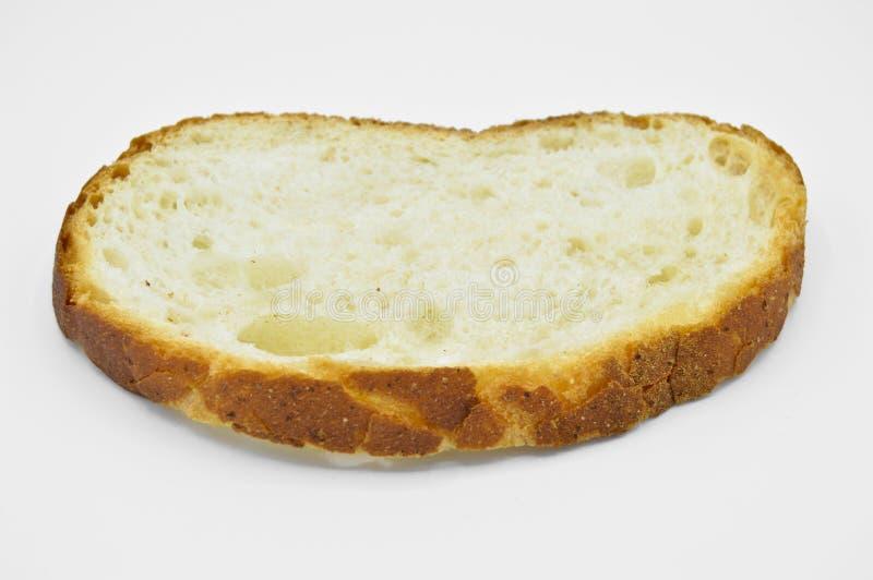 Tranche fraîche et savoureuse traditionnelle de pain blanc Croûte, coupe photographie stock