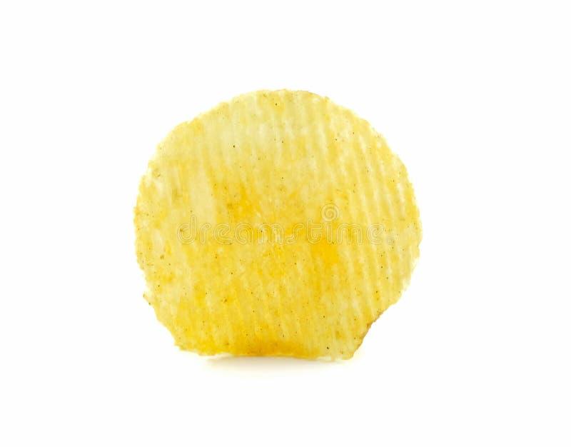 Tranche frite de pomme de terre sur le fond blanc image stock