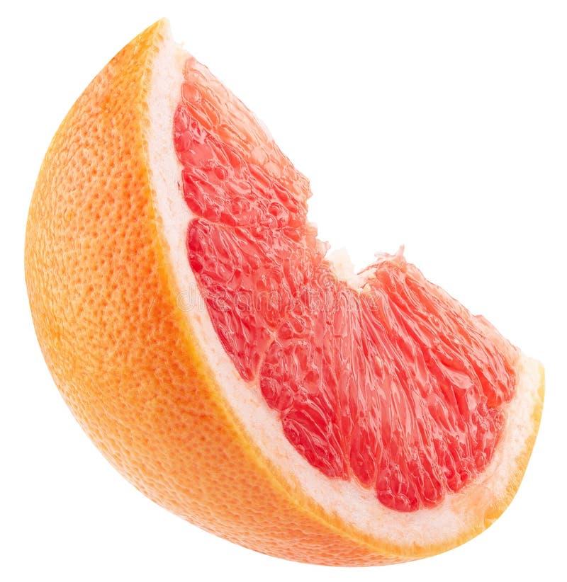 Tranche orange sicilienne rouge d'isolement sur un fond blanc images stock