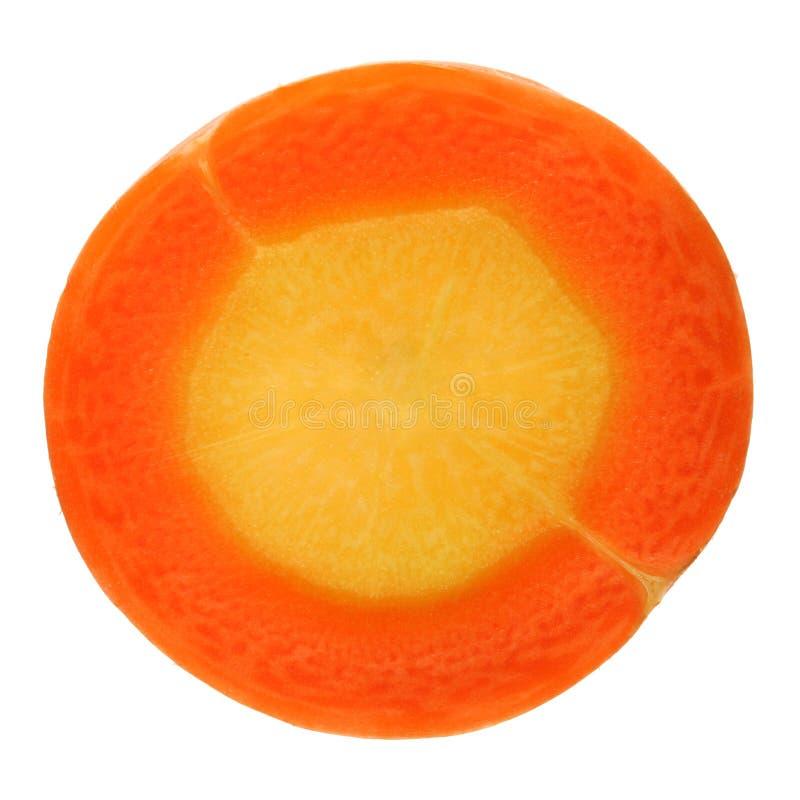 Tranches de carotte photo stock
