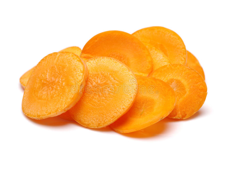 Tranches de carotte image stock