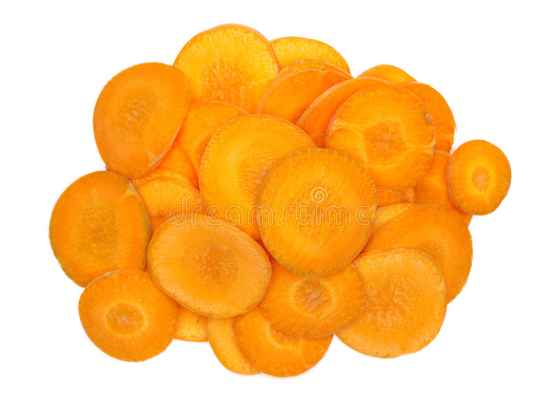 Tranches de carottes photographie stock