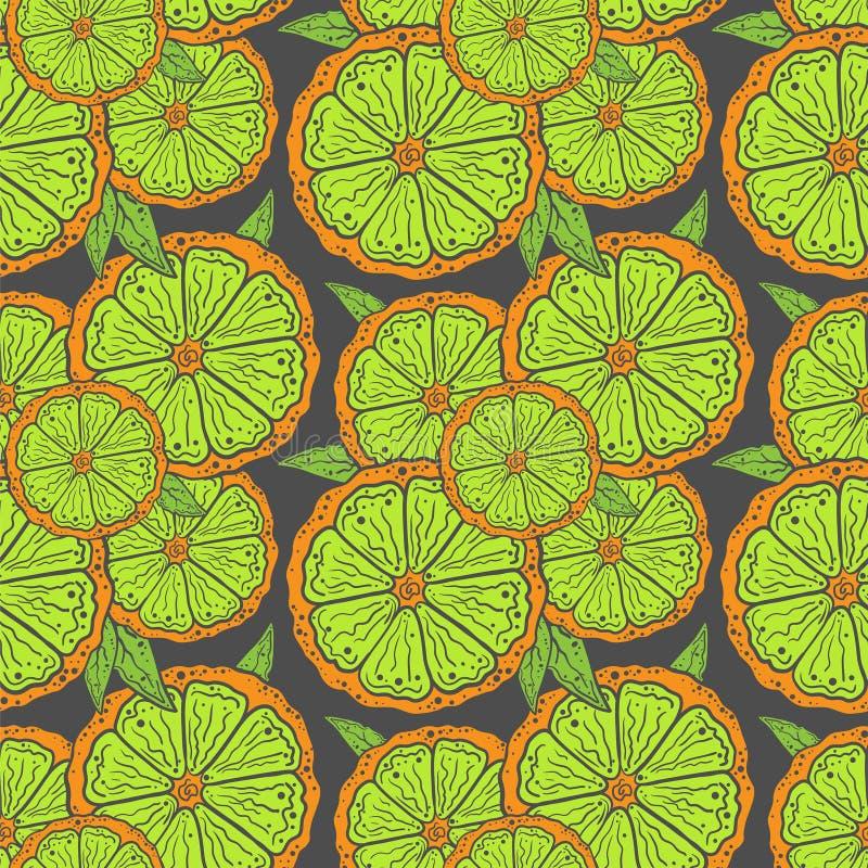 Tranches de citron de modèle illustration libre de droits