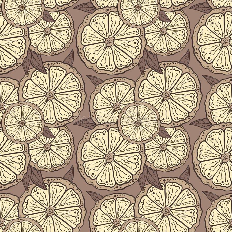 Tranches de citron de modèle illustration de vecteur