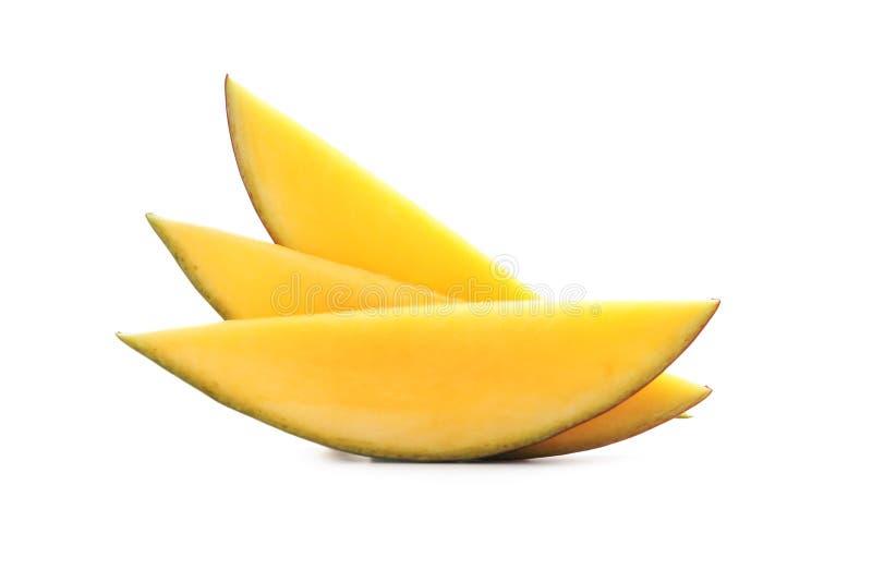 Tranches de mangue mûre délicieuse photos stock