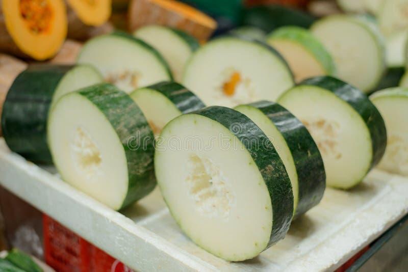 Tranches de melon d'hiver photos stock