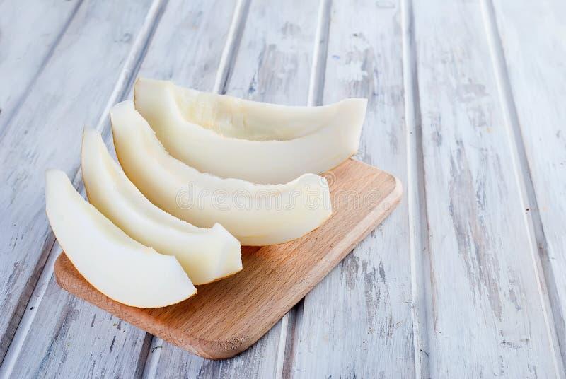 Tranches de melon juteux image libre de droits
