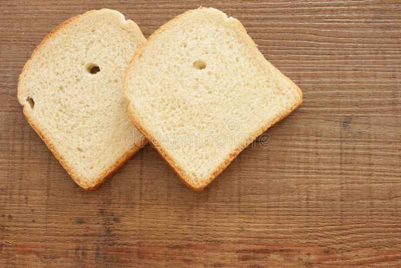 Tranches de pain de pain grillé images libres de droits
