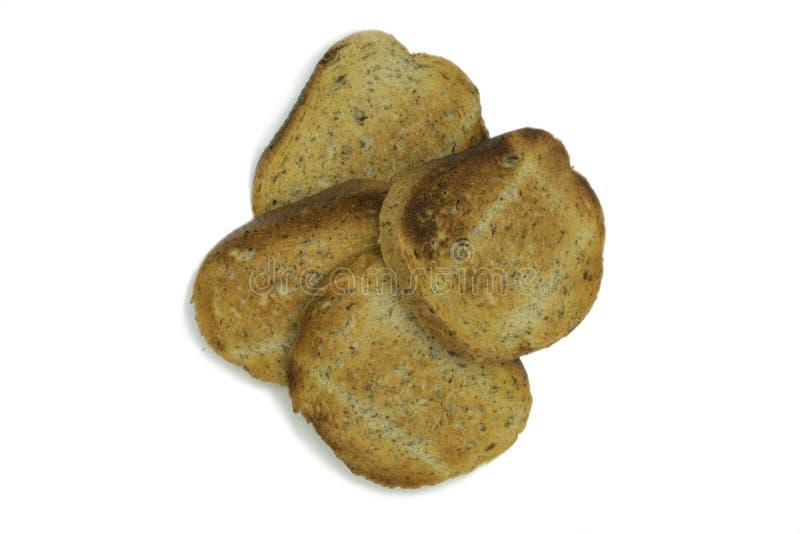 Tranches de pain frit photo libre de droits