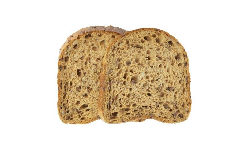 Tranches de pain de grain avec le moule photos libres de droits