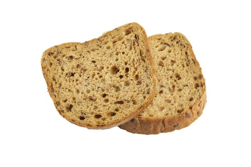 Tranches de pain de grain avec le moule images libres de droits