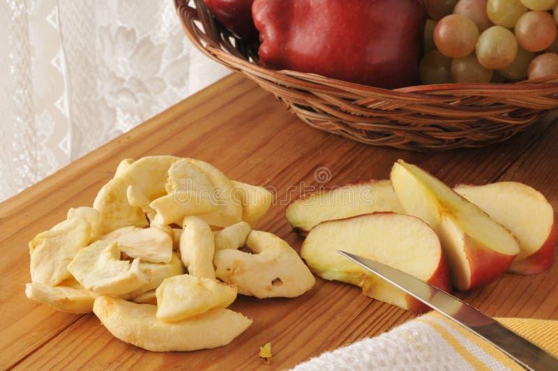 Tranches de pomme de Dreid photographie stock