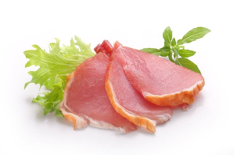 Tranches de porc balyk image stock